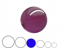 Jac Products Purple Translucent 80mm Acrylic Contact Ball